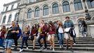 Imagen de archivo de estudiantes del I.E.S. Eusebio da Guarda, en A Coruña