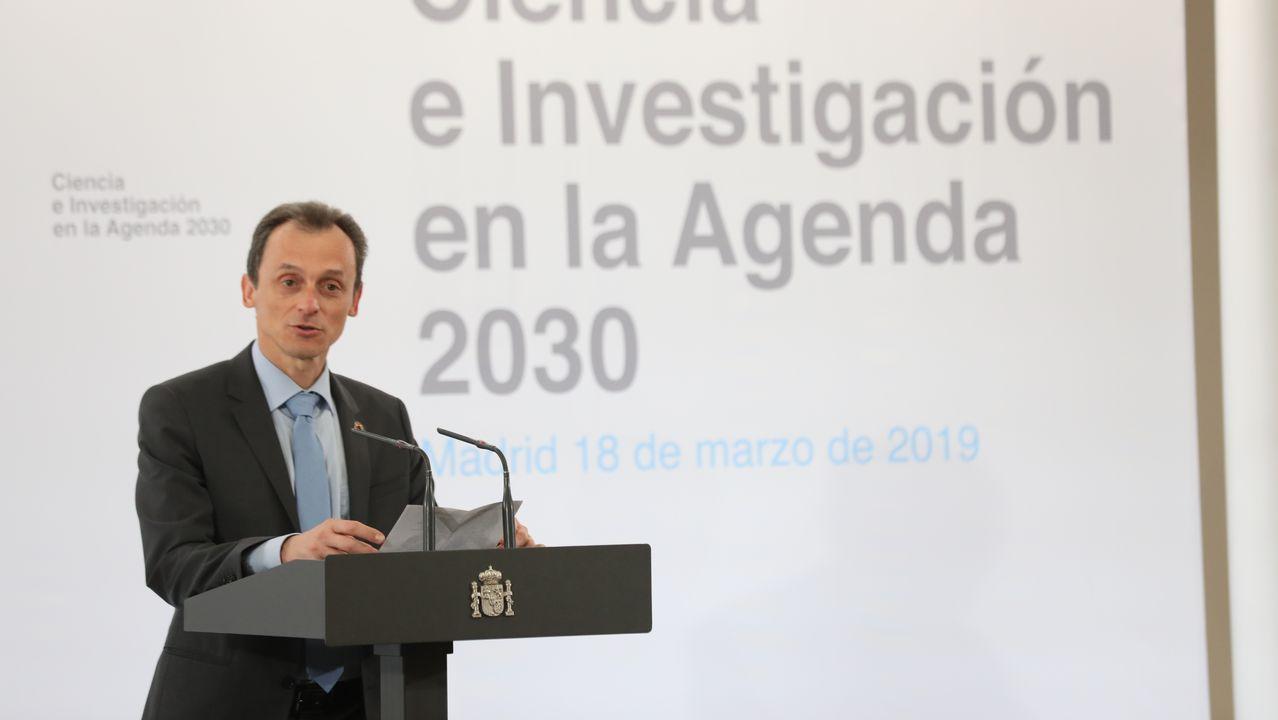 El ministro astronauta conquista Ames.Pedro Sánchez, en un acto de la campaña electoral en Madrid