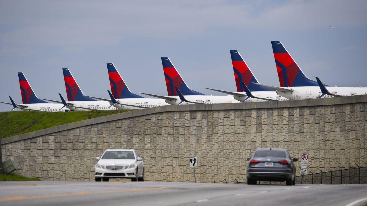 Aviones en el aeropuerto internacional de Atlanta
