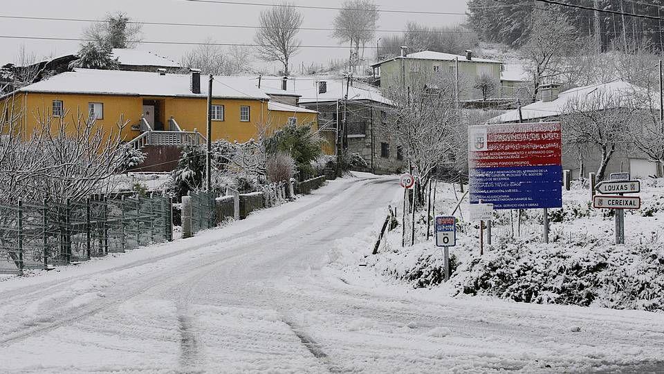 Intensas nevadas en Galicia.Nevadas en la montaña lucense