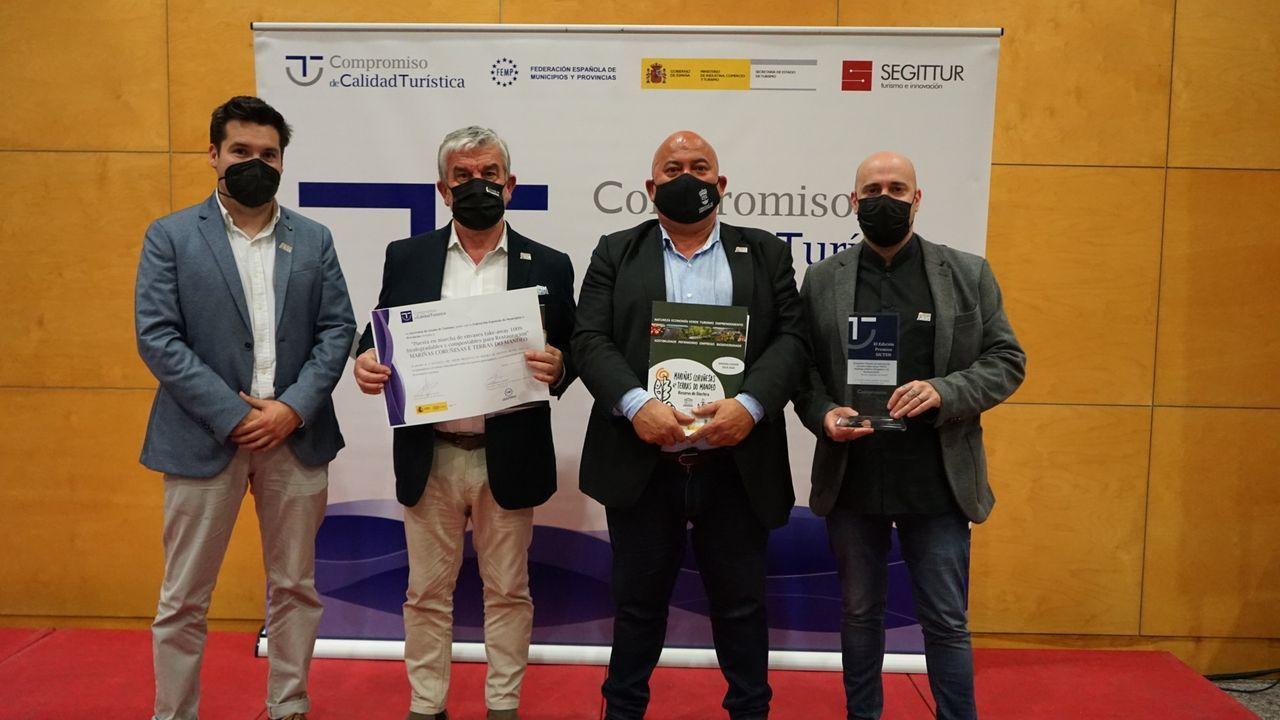 De izquierda a derecha, Diego López, César Longo, Jose Antonio Santiso y Lolo Mosteiro