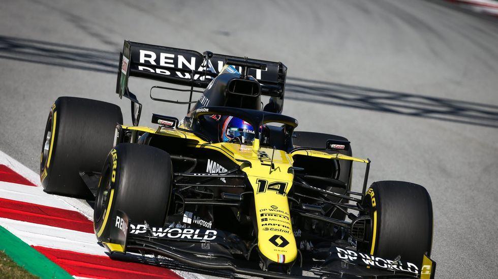 Fernando Alonso en el circuito de Yas Marina, Abu Dabi