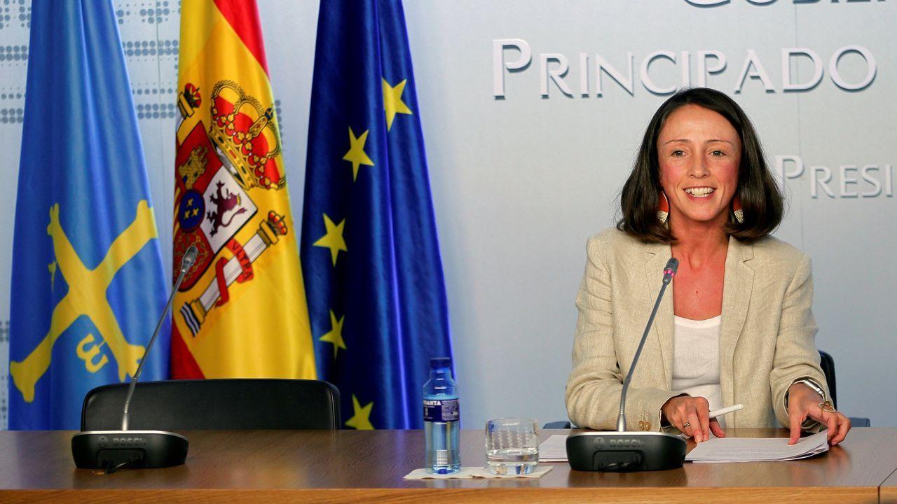 La exhumación tuvo momentos de tensión entre el Gobierno y los familiares del dictador.La portavoz del Ejecutivo asturiano y consejera de Derechos Sociales y Bienestar, Melania Álvarez