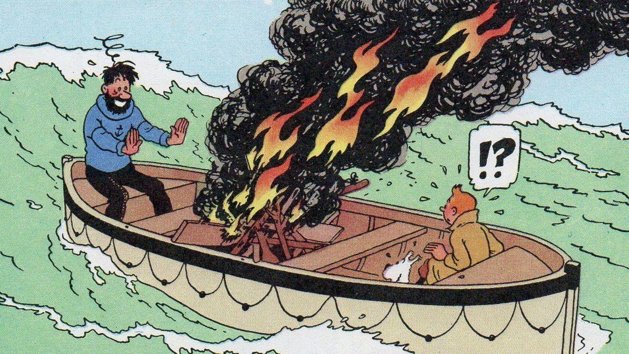 «El cangrejo de las pinzas de oro» fue la primera aventura de Haddock y Tintín juntos