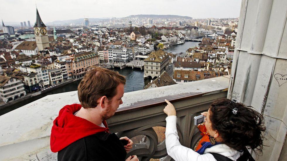 Vista aérea de Zurich.