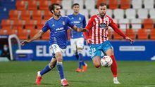 Arribas y Carrillo, durante el Lugo-Real Oviedo