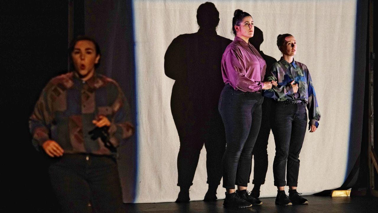 Gran susto en «El hormiguero».Pablo Iglesias y Alberto Garzón en el acto inaugural de la pasada campaña del 28A