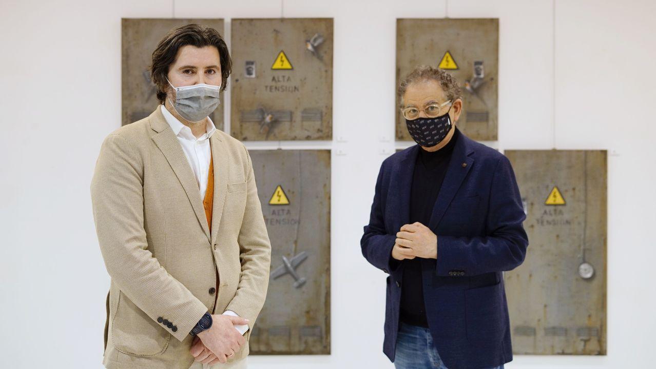 El 2020 también fue año de nuevas aperturas.Stefan Lupea y Roberto Verino en la presentación de la exposición