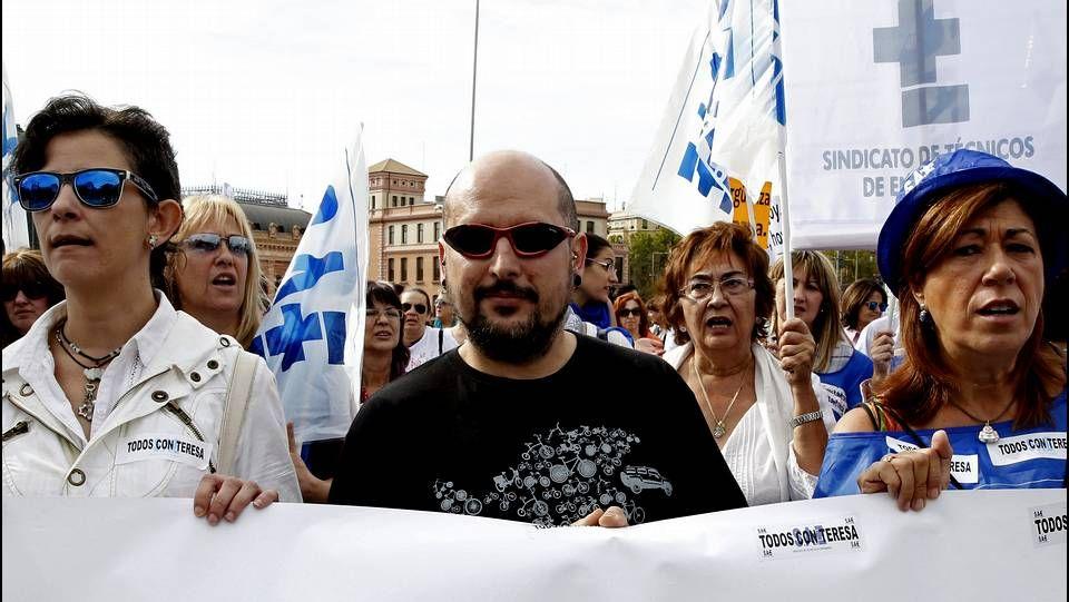 El hermano de Teresa Romero participó en la marcha.