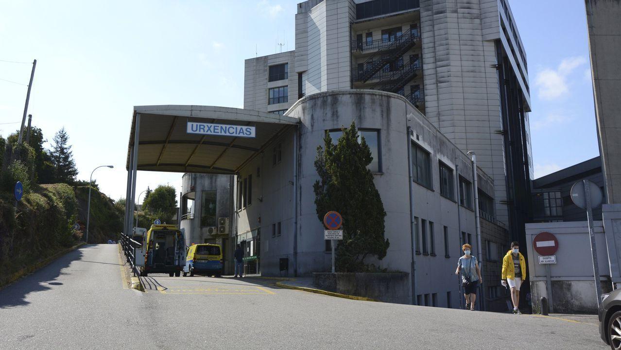 En la uci del Hospital Montecelo, en Pontevedra, hay un paciente de coronavirus