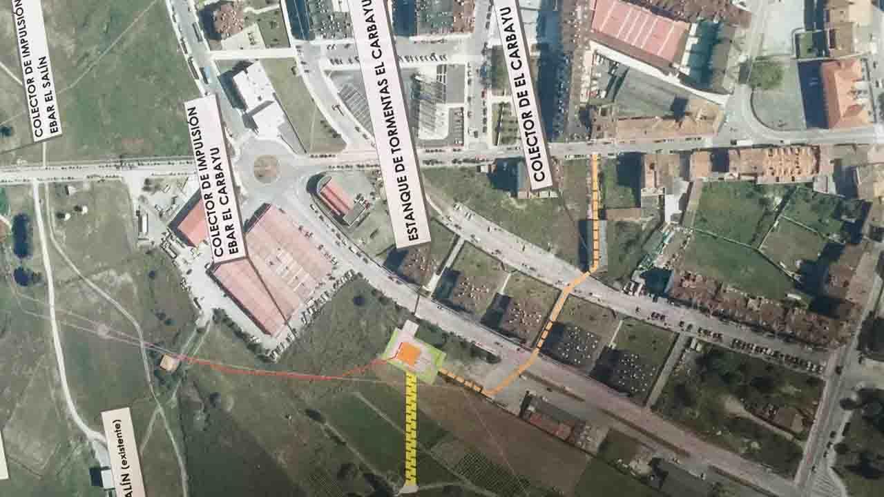 Juzgados Oviedo.Obras de saneamiento cortarán la ronda de Villaviciosa hasta el 3 de agosto