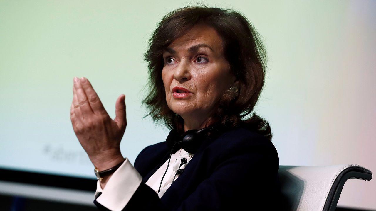 La vicepresidenta Carmen Calvo, en una imagen de archivo