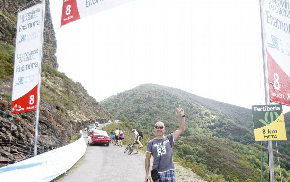 La última subida de la Vuelta al Pan de Zarco, en el 2014, fue un tremendo éxito de público.