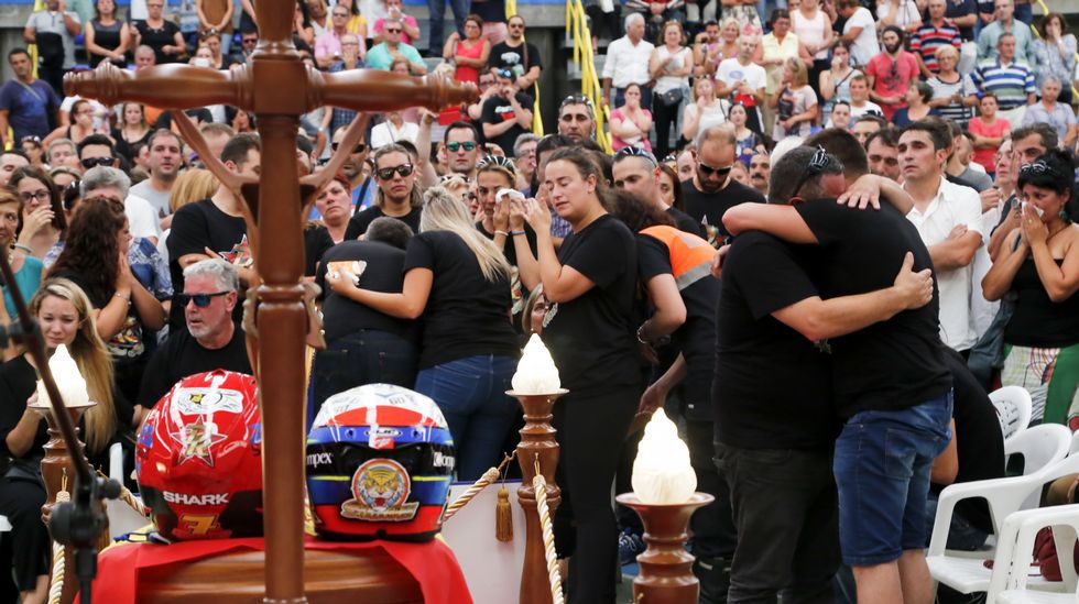 Moaña da su último adiós a Dani Rivas