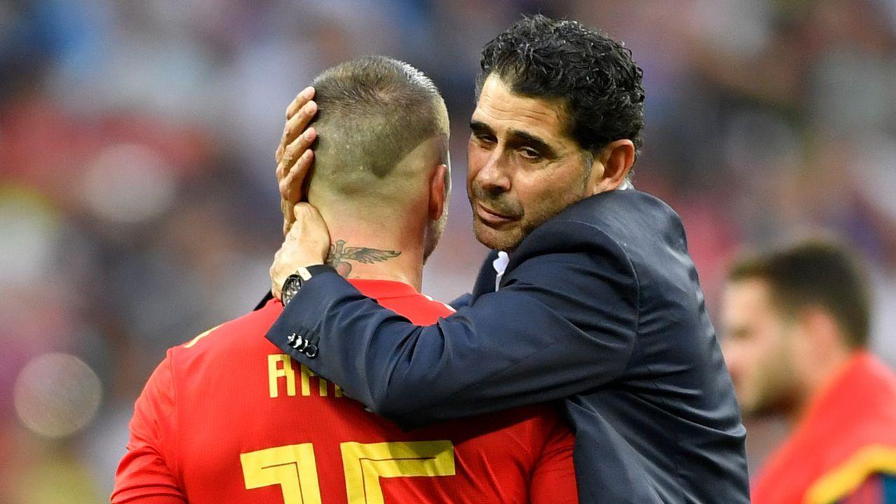 Las mejores imágenes de la semifinal entre Franciay Bélgica.Saúl Ñíguez, Toché, Christian Fernández y Aarón