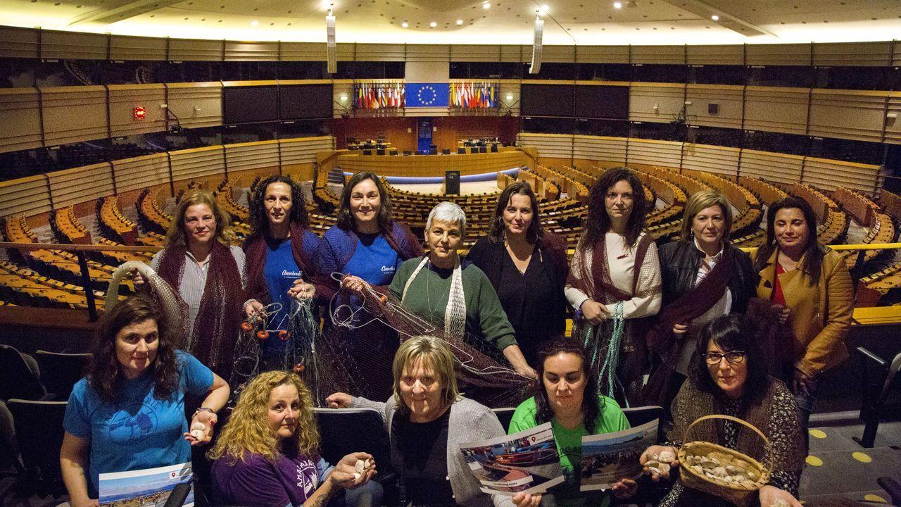 Ana Miranda (a la derecha)  interviene en la comisión europea del Parlamento Europeo