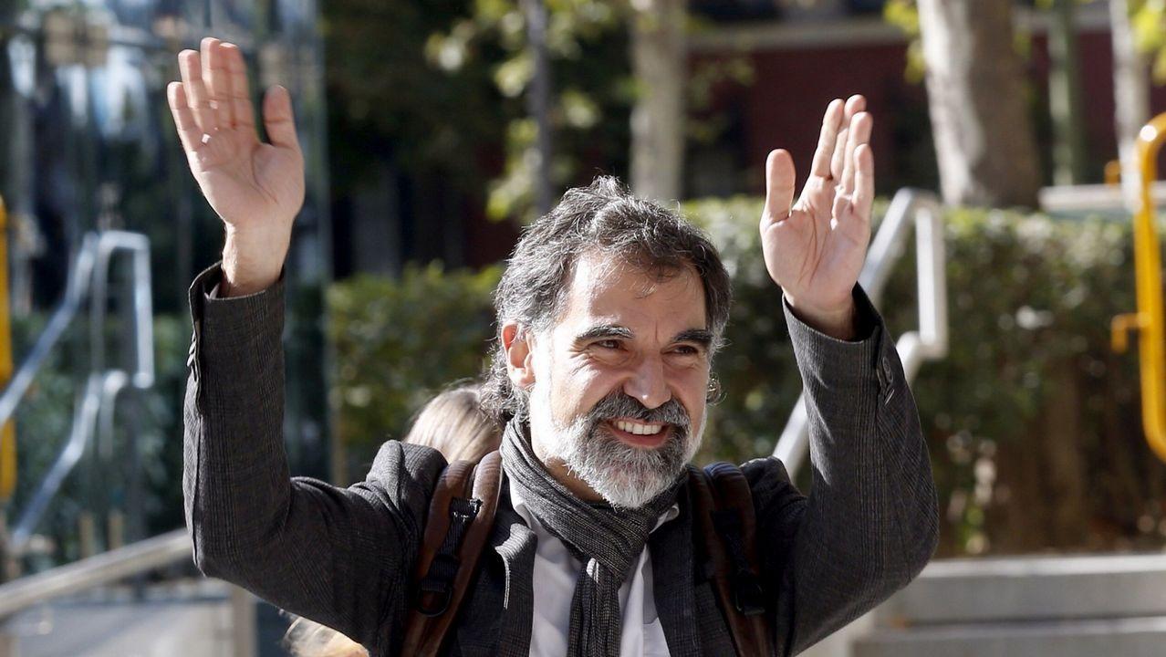 El líder de Omnium Cultural, Jordi Cuixart, y Jordi Sànchez fueron los primeros encarcelados por el proceso soberanista. Está en Soto del Real  por promover las concentraciones del pasado 20 y 21 de septiembre en Barcelona