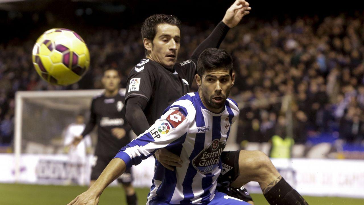 Saul Aaron Horizontal.Carlos Hernández celebrando su gol a la Cultural