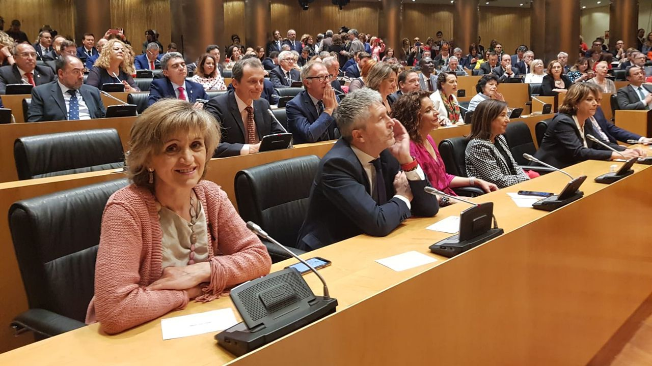 La diputada asturiana del PSOE, María Luisa Carcedo, en la reunión del grupo socialista
