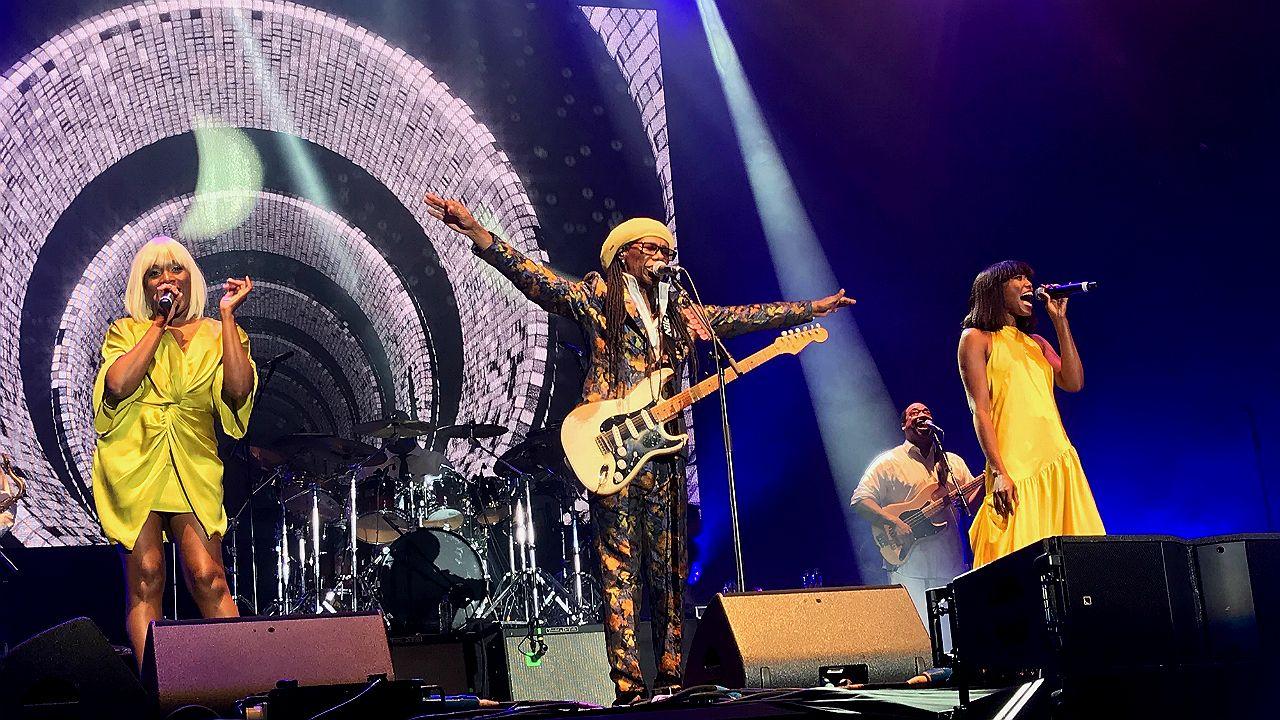 Nile Rodgers en concierto del Wilderness Festival 2018, en Charlbury (Inglaterra)
