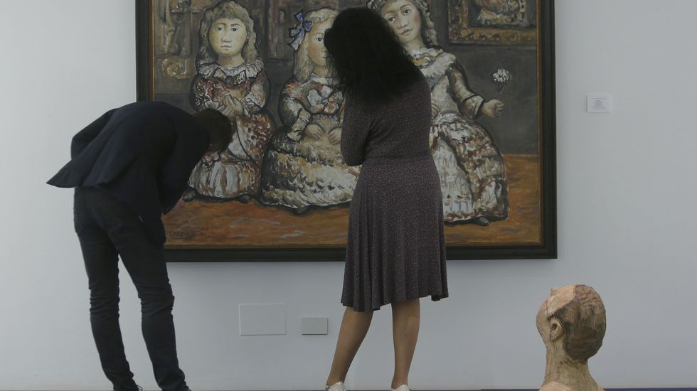 Sabino Torres siempre eligió la blbioteca del Museo de Pontevedra como su rincón favorito.