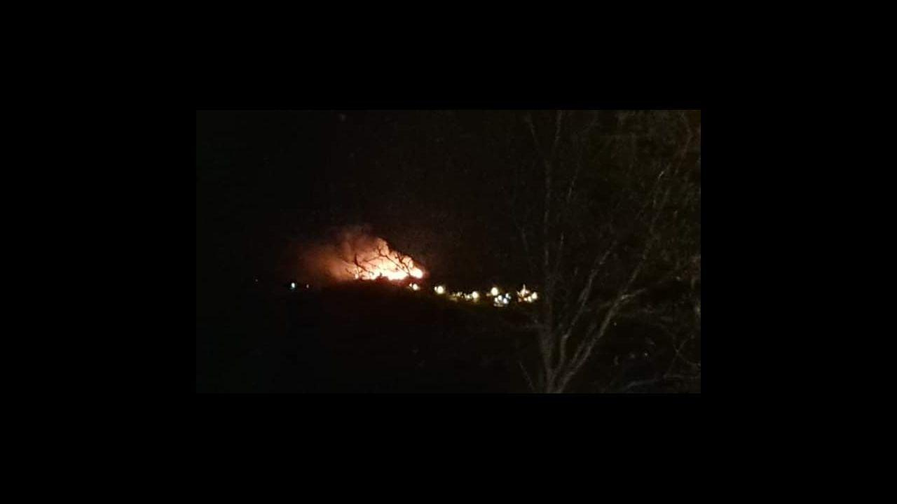 Zona de Rianxo devastada por el fuego, en el día después