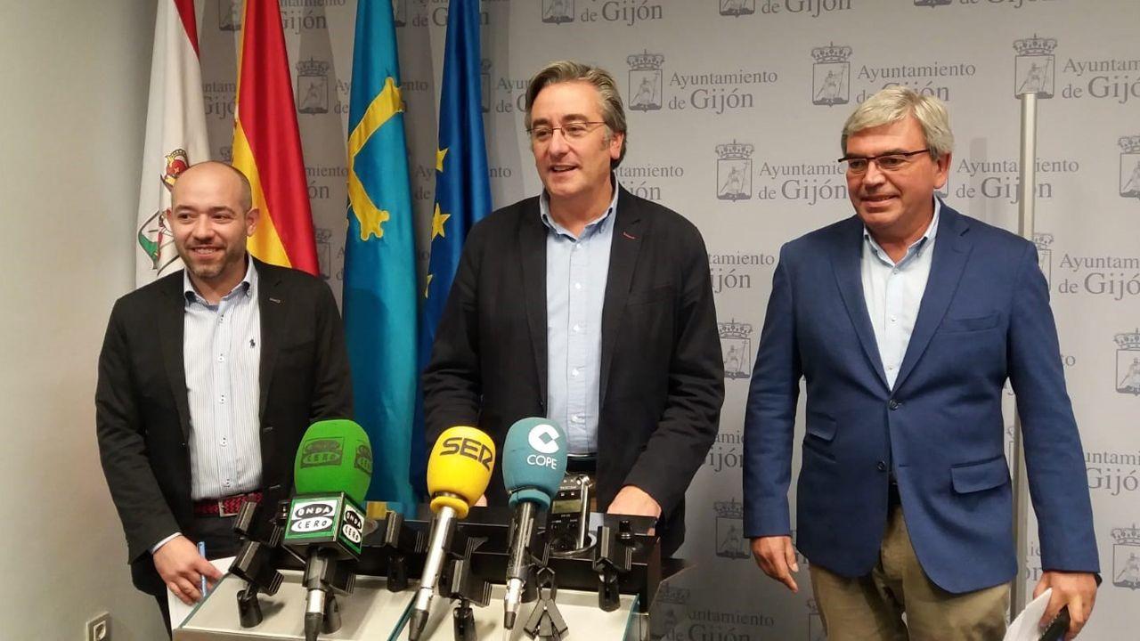 Mariano Marín, Pablo González y Rodrigo Pintueles (PP)