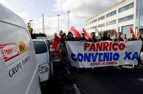 En la imagen de archivo, una protesta de los trabajadores de Panrico en el Tambre.