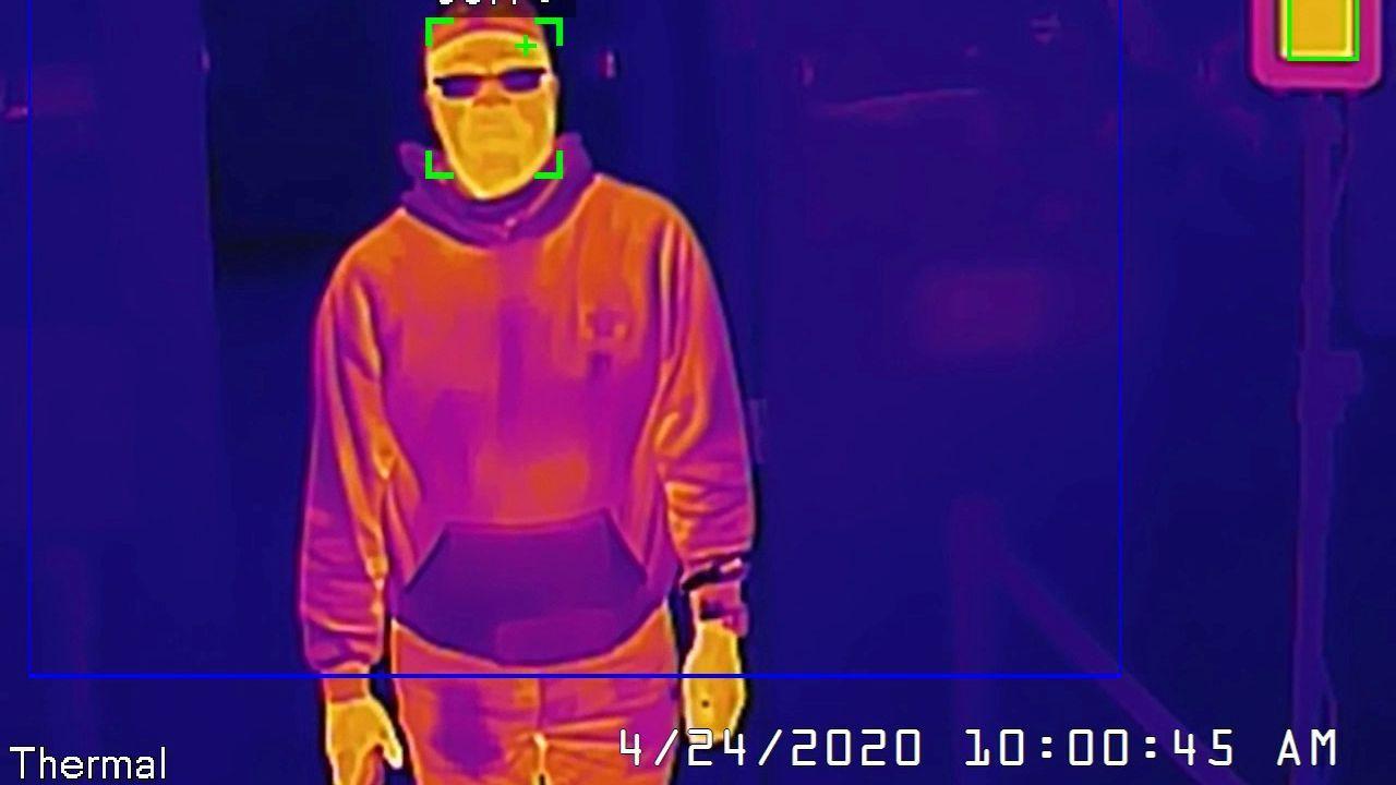 Imagen de una cámara termográfica