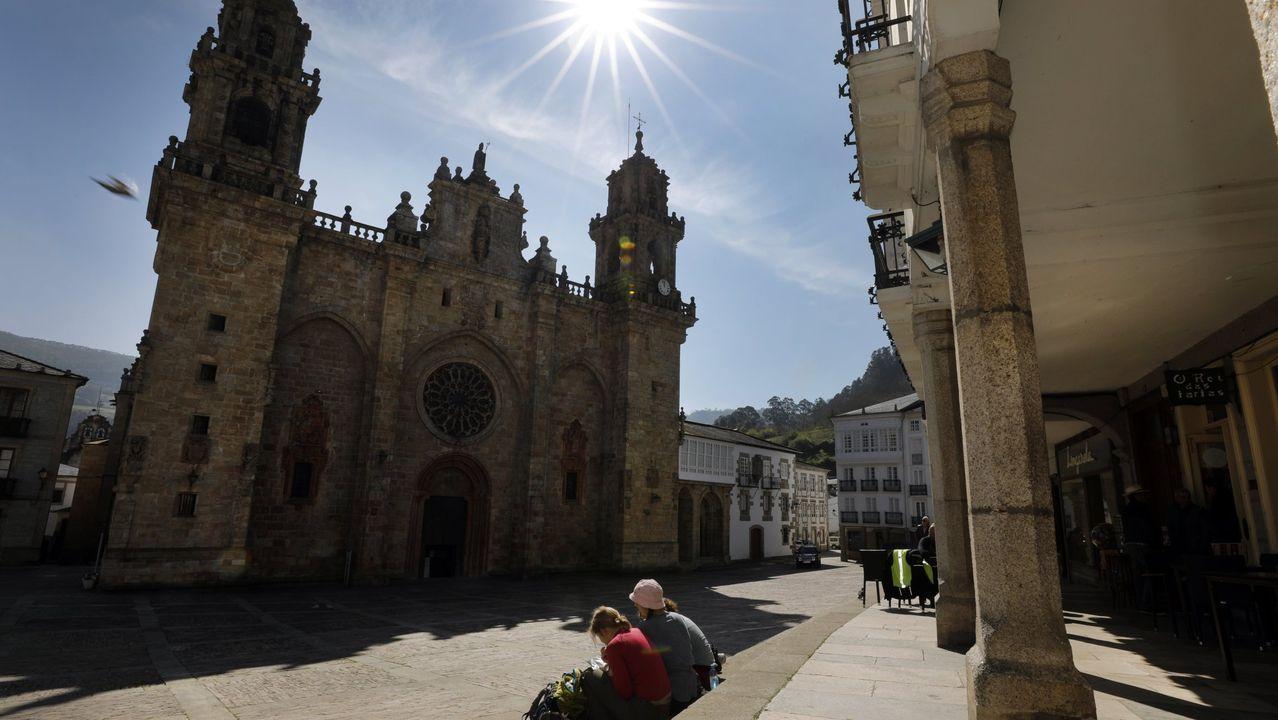 Catedral de Mondoñedo, en pleno Camiño Norte