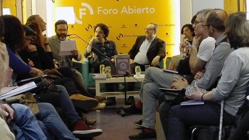 Edu Galá, Darío Adanti y Javier Cuervo en la presentación del libro «Disparen al humorista».Edu Galá, Darío Adanti y Javier Cuervo en la presentación del libro «Disparen al humorista»