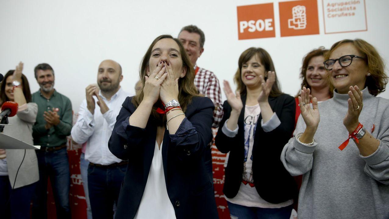 Asívotó A Coruña en las primeras elecciones poscovid.JERINGUILLAS EN UN EDIFICIO ABANDONADO DE PALAVEA