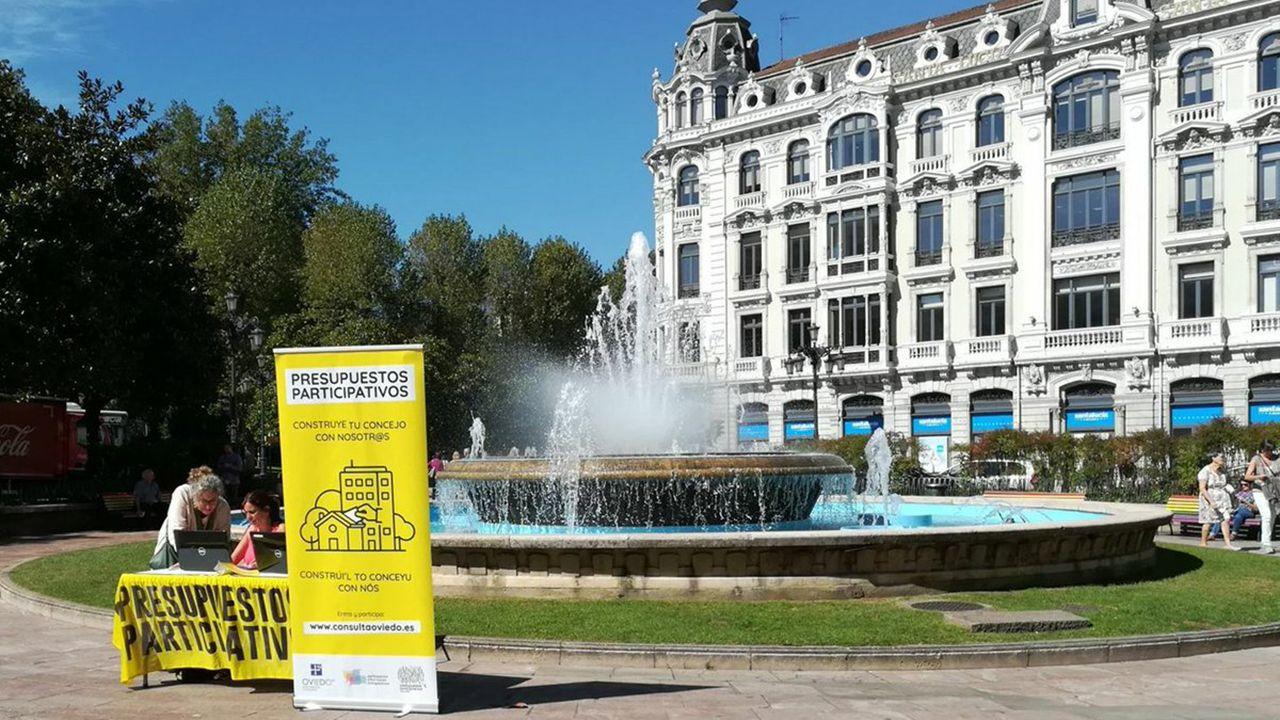 Laboratorio investigacion farmacos ensayos clínicos.Campaña de información de los presupuestos participativos en Oviedo