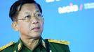 El jefe de la junta militar birmana, Min Aung Hlaing, en una imagen de archivo