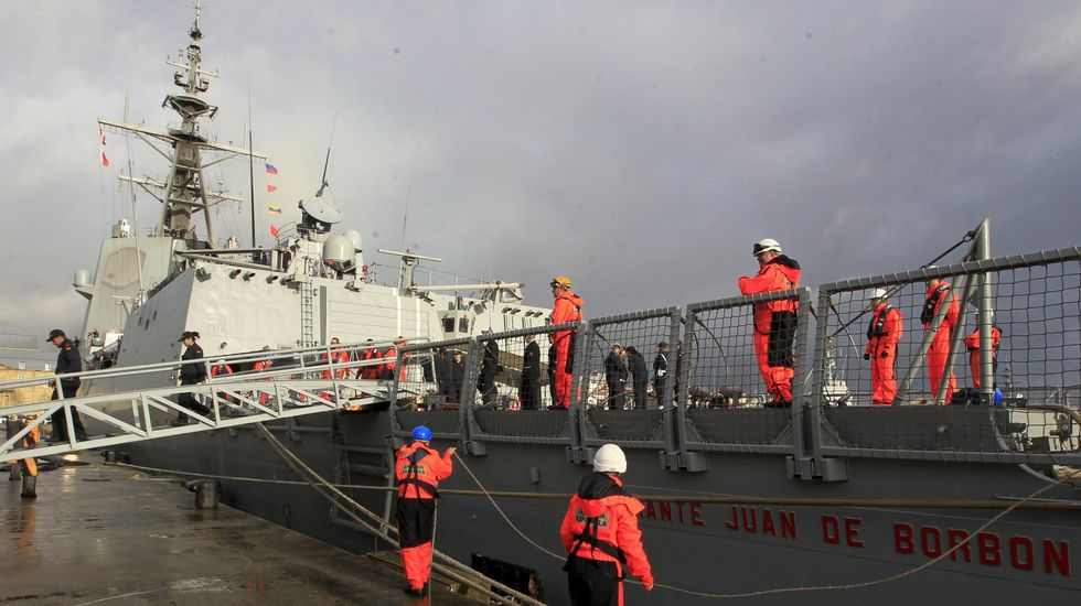 Vista de la «Almirante Juan de Borbón»