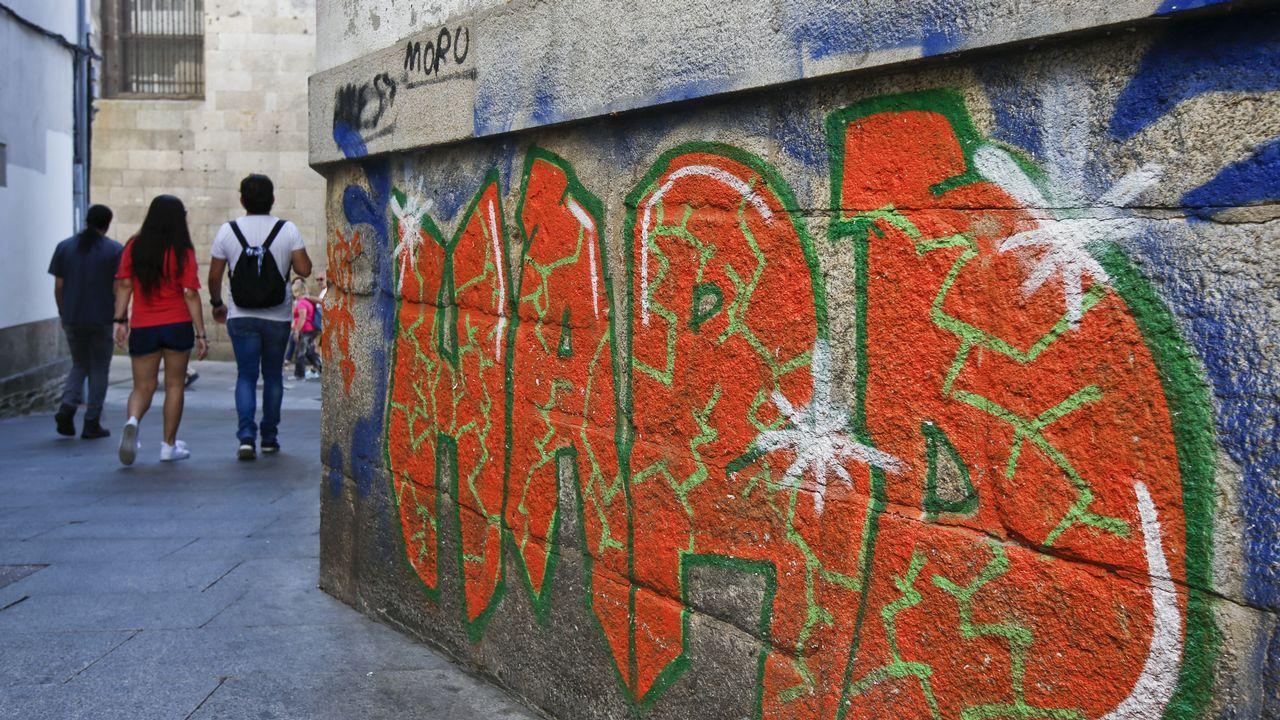 Pintada en Lugo