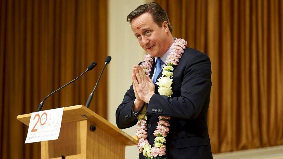 | EFE.ESFUERZO DE EMPATÍA. Cameron ha hecho un gran esfuerzo en esta campaña por mostrarse cercano a los electores de todas las tendencias.