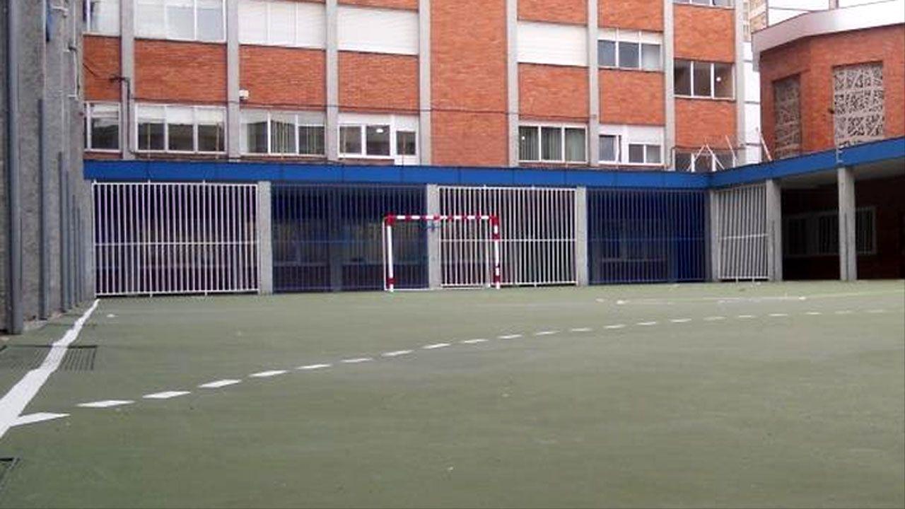 Patio del colegio San Miguel, en Gijón