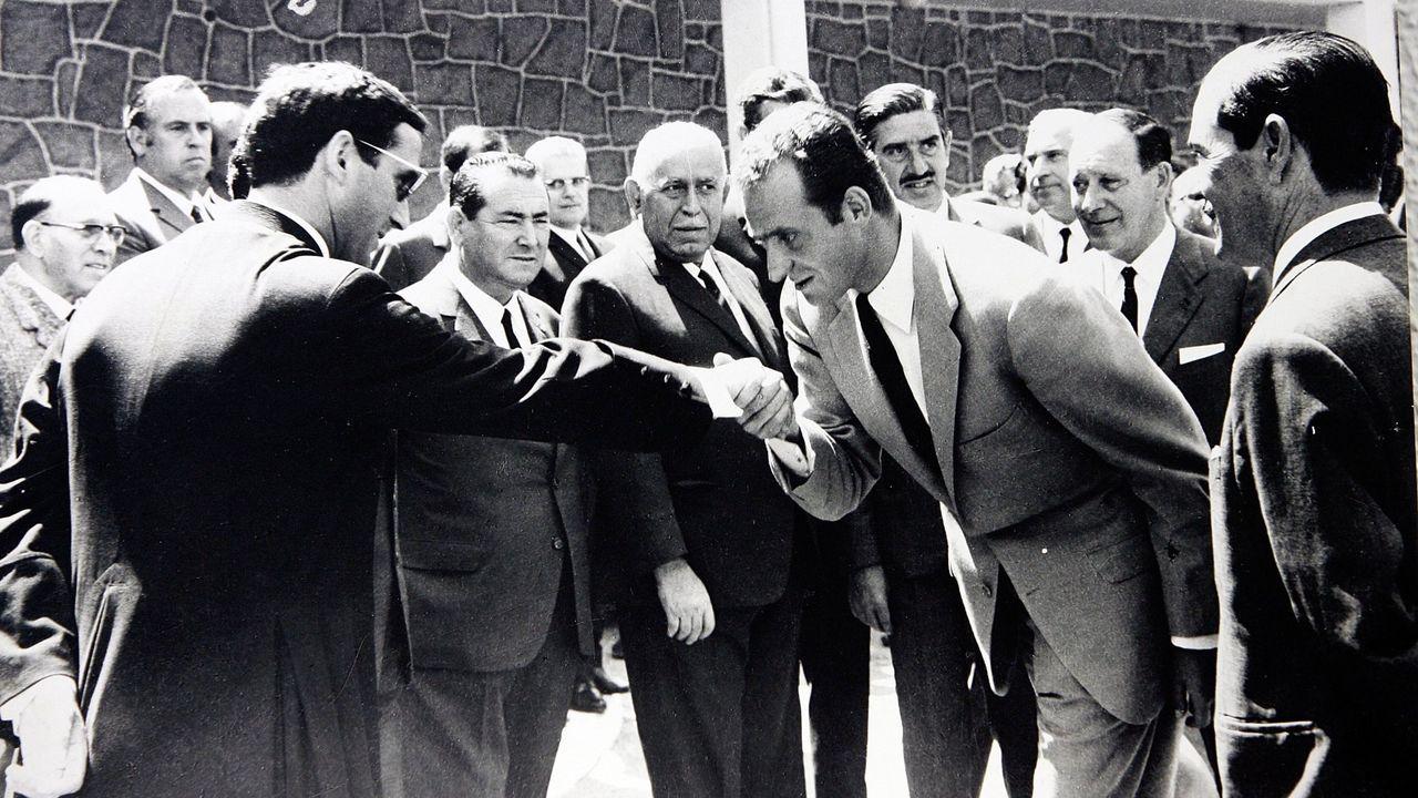 Visita oficial del rey a la ciudad de A Coruña en 1969