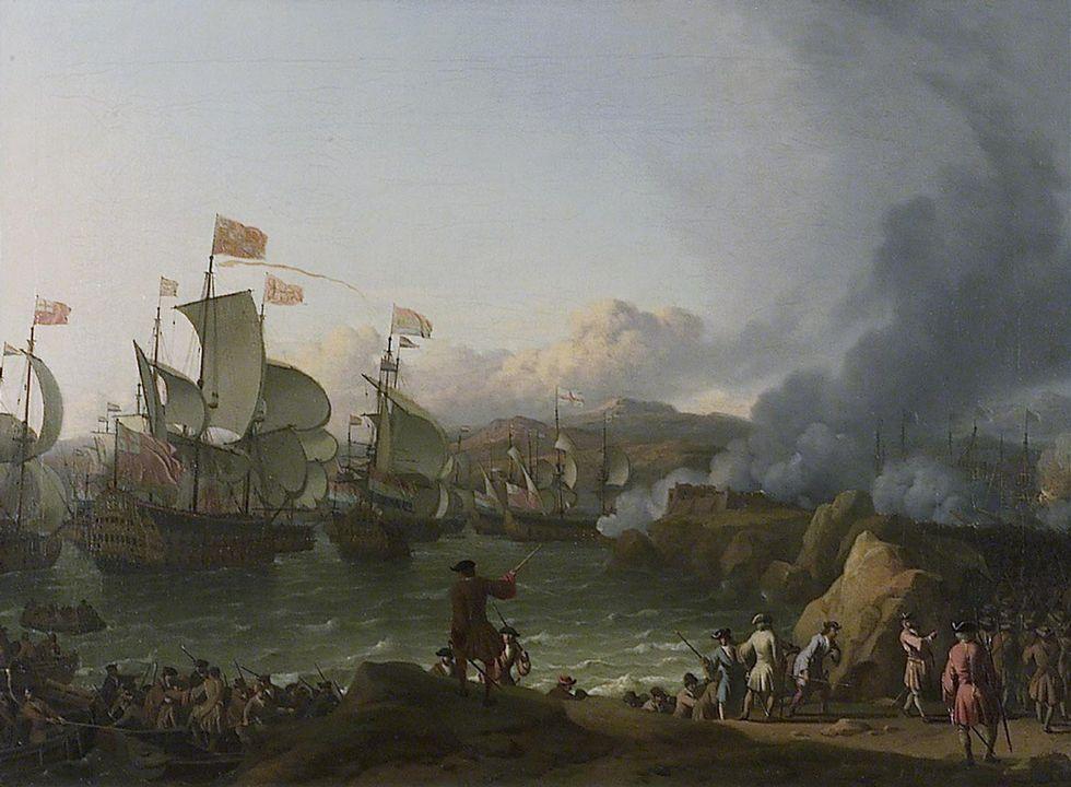 Óleo que recrea la batalla de Rande en una de las ediciones del libro «20.000 leguas de viaje submarino»