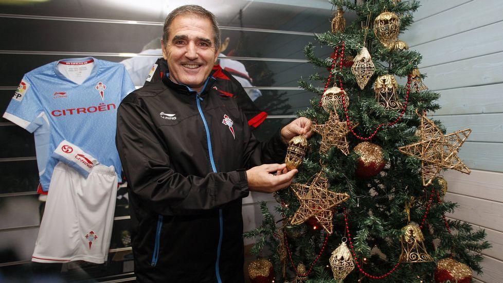 Sergio, en Catoira en las Navidades del 2015