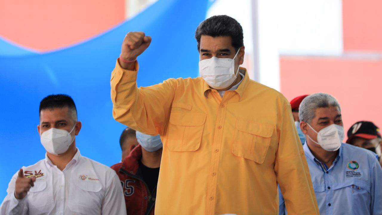 Maduro participando en un acto gubernamental, en Caracas, el 11 de junio