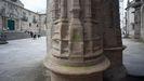 Las pintadas que han aparecido en la Catedral de Lugo