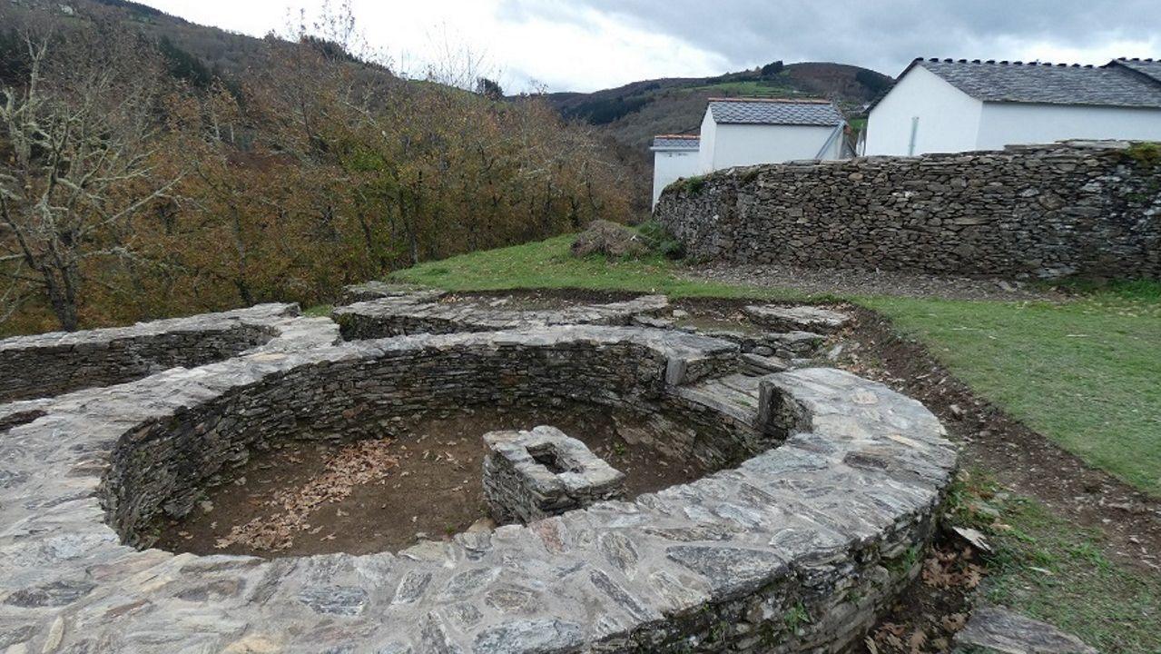 meiras.El castro de Santa María de Cervantes fue ocupado en época romana para la explotación aurífera