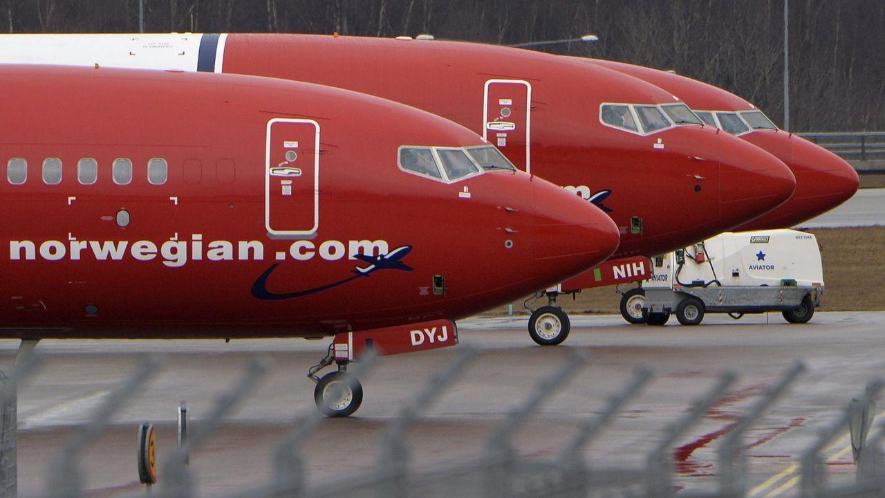 Accidentes aéreos en Galicia.Aviones de la compañía Norwegian, en el aeropuerto de Estocolmo