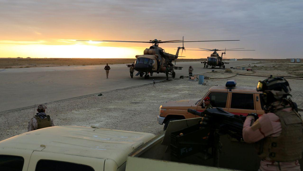 Soldados iraquíes, en la provincia de Anbar, donde tuvo lugar la operación de EE.UU.