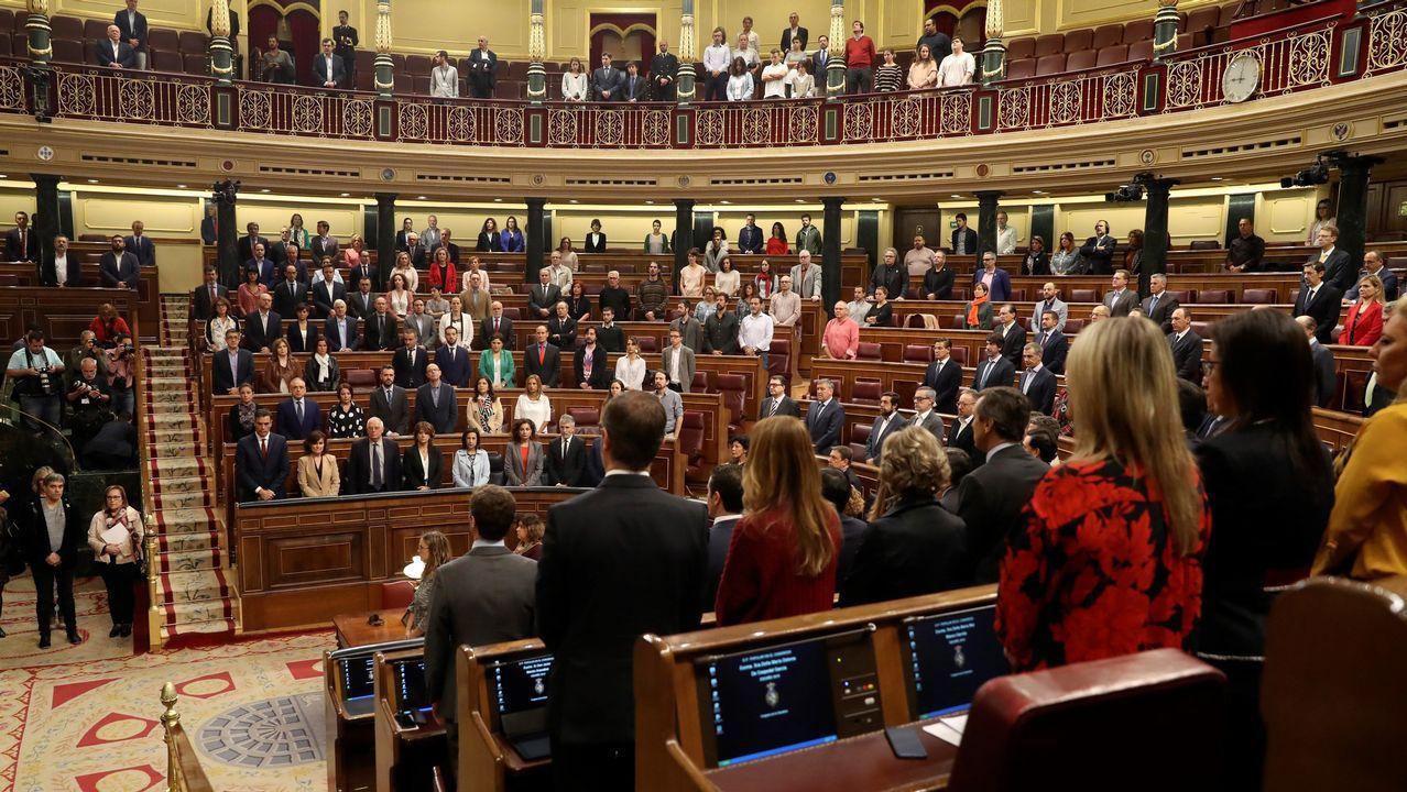Minuto de silencio en el pleno del Congreso de los Diputados