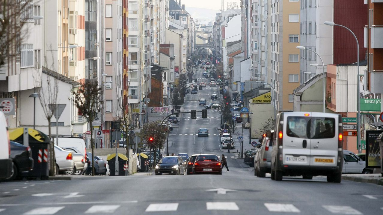 Accidente laboral en Vilagarcía.Avenida da Coruña de Lugo