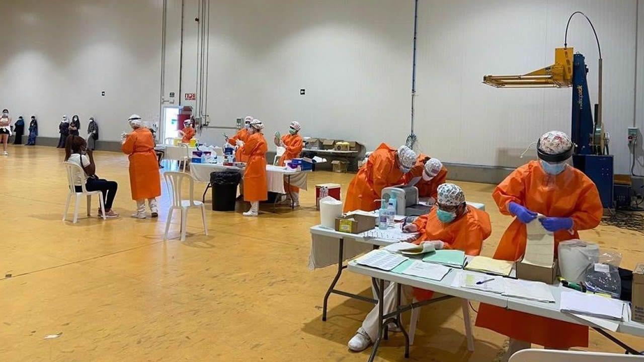Las pruebas PCR realizadas hoy en la empresa hortofrutícola del Bajo Cinca