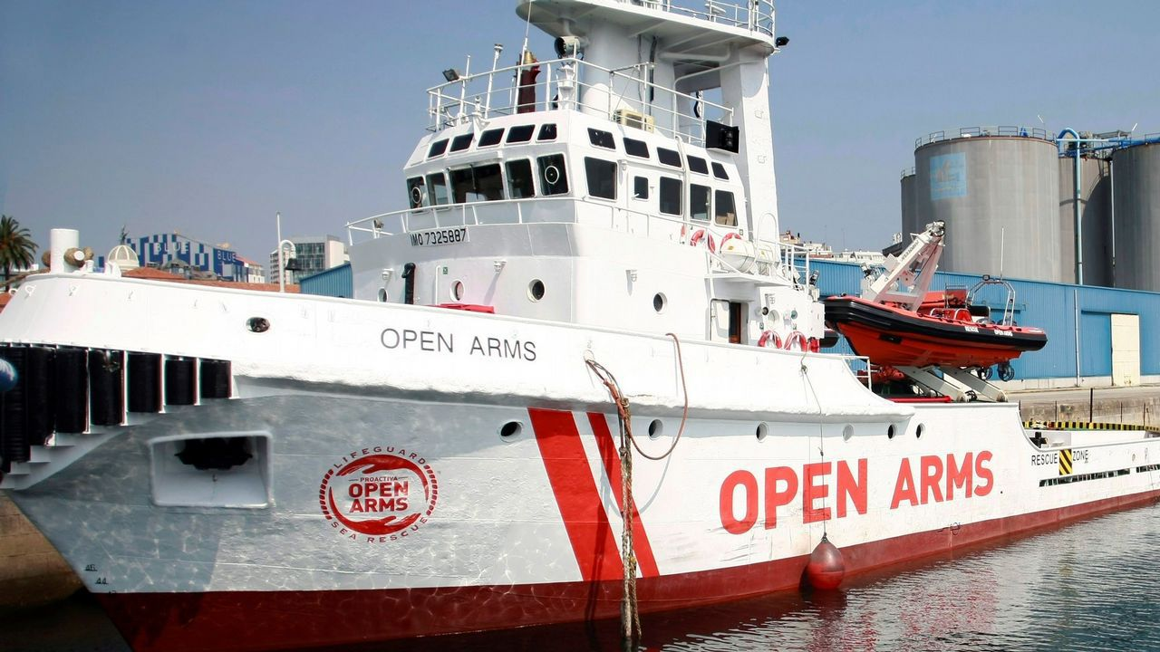 Imagen de archivo de la embarcación Open Arms perteneciente a la oenegé Proactiva